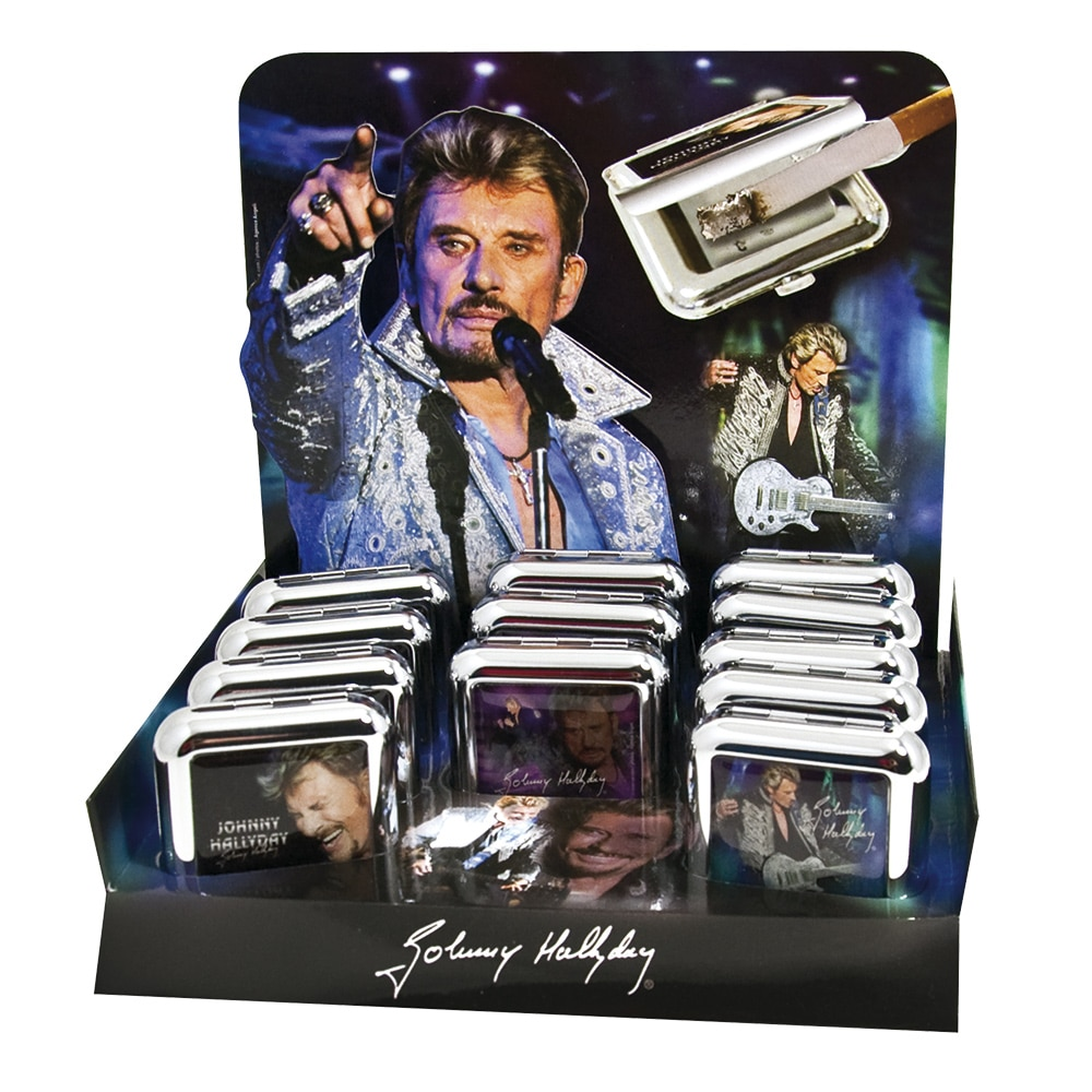cendrier de poche johnny hallyday cendriers mistersmoke. Black Bedroom Furniture Sets. Home Design Ideas