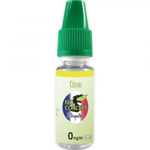 E-liquide 10 ml - Citron - Bioconcept - 0mg/ml
