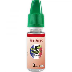 E-liquide 10 ml - Fruits rouges - Bioconcept - 0mg/ml