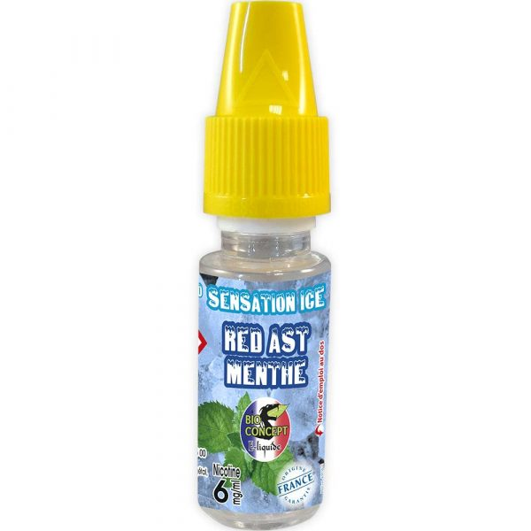E-liquide Sensation Ice - Red Ast Menthe - Bioconcept - 6mg/ml