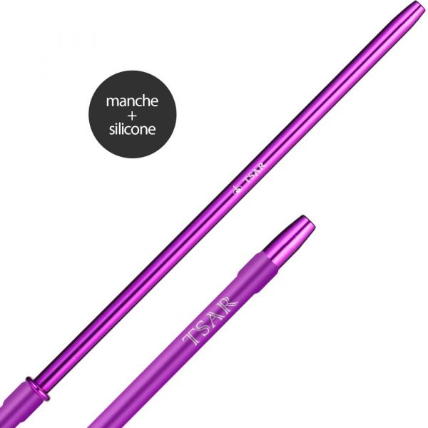 Tuyau complet silicone Tsar finger - Violet