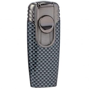 Briquet double flamme chalumeau Carbon