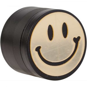 Grinder métal 4 parties 50 mm Smiley - Smiley Noir&Or