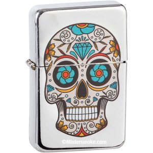Briquet essence Mexican Skull