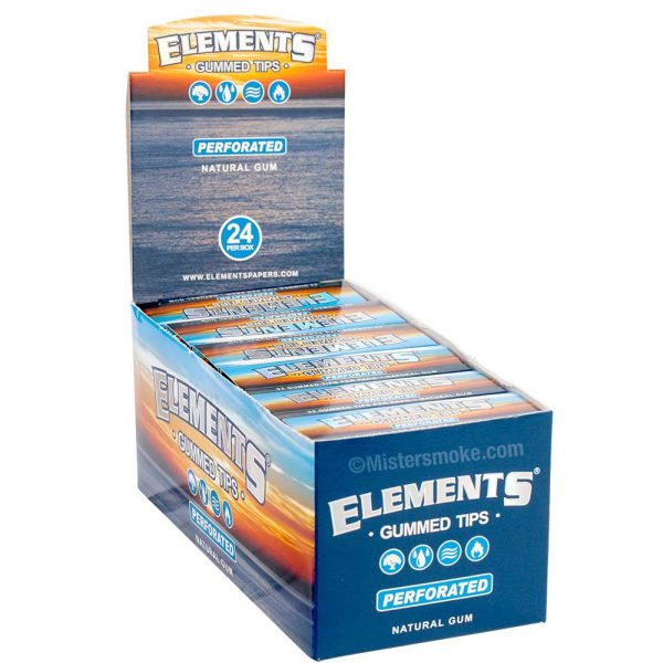 boite de 24 étuis de 33 filtres elements gummed perforated