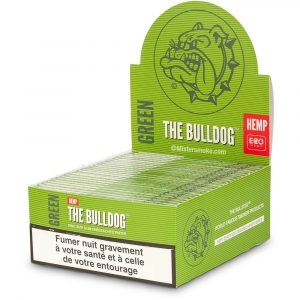 Boite de 50 Carnets Slim KSS The Bulldog Green Hemp