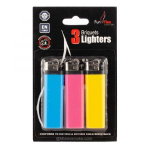 Lot de 3 briquets colorés Belflam