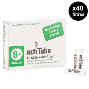 box of 40 filters acti tubes 8 mm